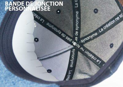 Ateliercasquette-bandejonctionperso