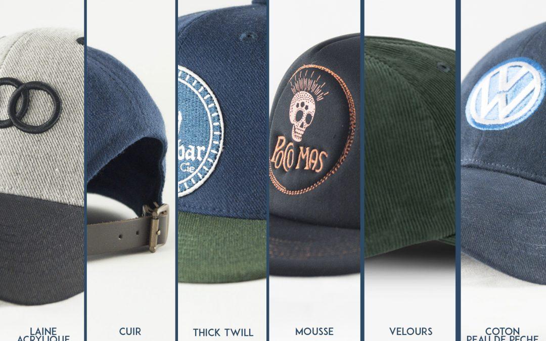 Les matières pour votre casquette